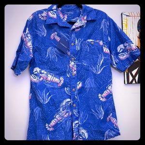 Croft & Barrow Lobster Print Summer Shirt! NWT!